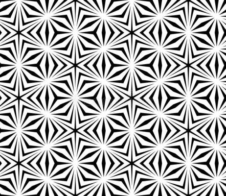 Vector Modern Seamless Sacred Geometry Pattern Trippy Black White Gorgeous Sacred Geometry Patterns