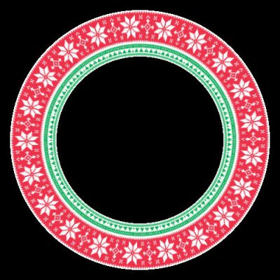 Christmas stars red and green round preview