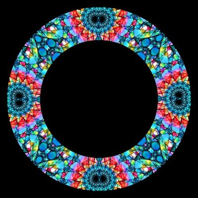 Stain Glass Spiral round preview