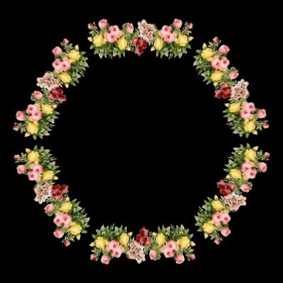 Classic Flower Motif round preview