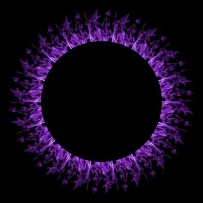 purple flames on black leggings round preview
