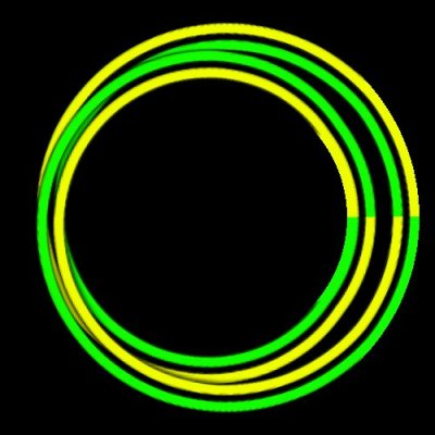 swapDoubleD greenYellow 3Dcross round preview