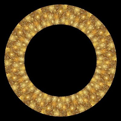 Gold Glitter Seamless Pattern Disco Ball 2 round preview