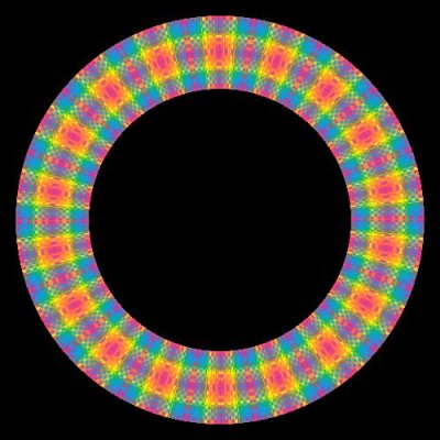 Rainbow Plaid round preview