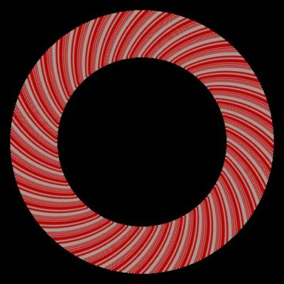 Candy Cane Rotating Dim White round preview