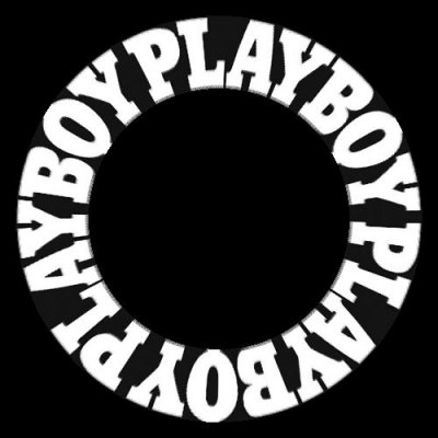 Playboy logo text round preview