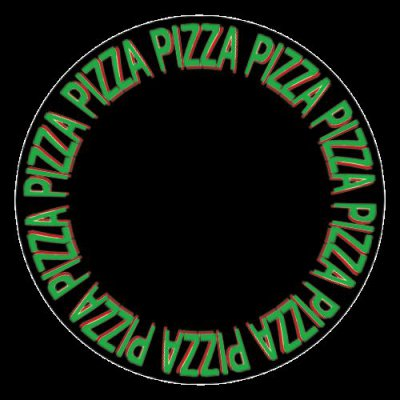 pizza logo round preview
