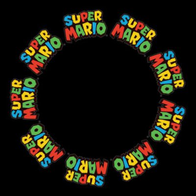 Super mario logo round preview