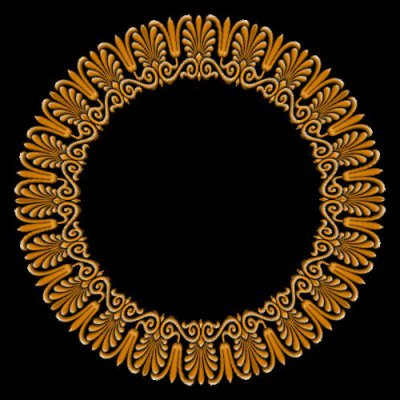 victorian ornamen gold round preview
